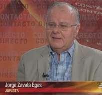 GUAYAQUIL, Ecuador.- Jorge Zavala Egas durante su entrevista en Contacto Directo. Foto: Ecuavisa