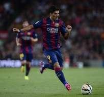 El uruguayo Luis Suárez debutó hoy con la camiseta del Barcelona de España.