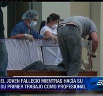 El joven Marcelo Pietro cayó al río Jubones mientras realizaba unos estudios de minería.