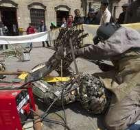 La muestra ocurre dentro del Festival de Arte Urbano que se realiza en La Paz. Foto: EFE