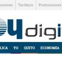 ECUADOR.- El diario Hoy, fundado hace 32 años, tuvo en la tarde del miércoles su última actualización en la página web. Fotocaptura de la web del diario