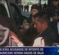 Policías sentenciados a 12 años de cárcel apelan fallo