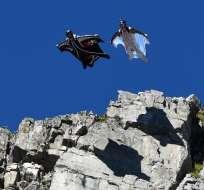 Wingsuit, los temerarios Ícaros de las montañas. Foto: AFP