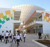Rafael Correa inauguró el año escolar en la Sierra. Foto: Presidencia.