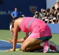 Peng trató de volver a la competencia pero fue imposible. Foto: AFP.