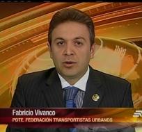 Fabricio Vivanco dialogó sobre el pedido de aumento de las tarifas al transporte urbano en el país.