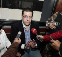 La defensa de Francisco Endara dijo que él es una víctima de altos funcionarios, quienes realmente participaron en la entrega del crédito de 800.000 dólares al argentino Gastón Duzac. Foto: API.