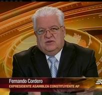 El expresidente de la Asamblea se refirió a las enmiendas que se quiere hacer a la Constitución de Montecristi.