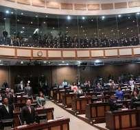 El debate del proyecto de ley que busca que los fondos complementarios previsionales pasen a ser administrados por el Biess. Foto: Asamblea Nacional.