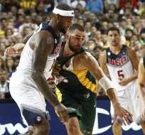 EE.UU. se mete en final del Mundial de básquet tras ganar a Lituania 96-68. Foto: AFP