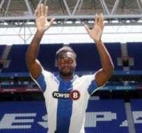Felipe Caicedo, jugador del Espanyol de la ciudad de Barcelona (Foto: Internet)