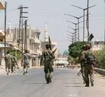 Ejército sirio recupera el control de importante localidad de Halfaya. Foto: AFP