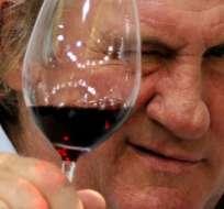 El actor francés Gérard Depardieu reveló que toma cuando se aburre.
