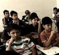 """SIRIA.- Según Save the Children, la mitad de los niños """"raramente"""" o """"nunca"""" son capaces de concentrarse en clase. Foto: BBCMundo.com"""