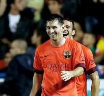 Barcelona refuerza su liderato con goleada en visita al Levante. Foto: EFE