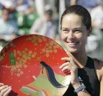 Ana Ivanovic gana en Tokio y abraza su cuarto título del año. Foto: EFE