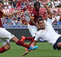 Florenzi anotó el tanto de apertura ante Cagliari. Foto: EFE.