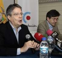 ECUADOR.- Lasso aclaró que se trata de un acuerdo puntual y que no es una alianza política para candidaturas a largo plazo. Foto: API