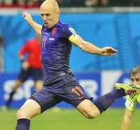 Robben en acción ante España.