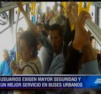 Los pasajeros de los buses de servicio público pueden hacer sus denuncias al 1800 268 268.