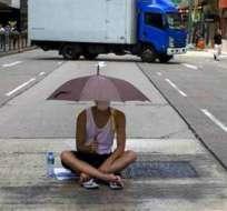 El paraguas, símbolo de las protestas (más abajo, la explicación).
