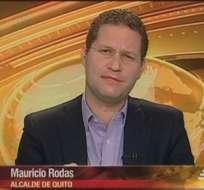 QUITO, Ecuador.- Mauricio Rodas durante la entrevista en Contacto Directo. Foto: Ecuavisa