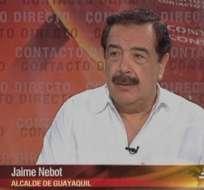 GUAYAQUIL, Ecuador.- Jaime Nebot durante su entrevista en Contacto Directo. Foto: Ecuavisa