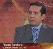 GUAYAQUIL, Ecuador.- Rolando Panchana durante su entrevista en Contacto Directo. Foto: Ecuavisa