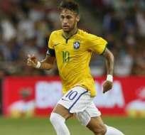 """Neymar tiene 40 goles en 58 partidos con la """"Canarinha"""". Foto: EFE."""