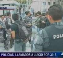 Llaman a juicio a 41 policías por insubordinación