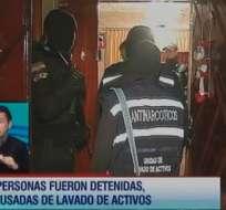 Mega operativo policial detuvo a 4 personas por presunto lavado de activos