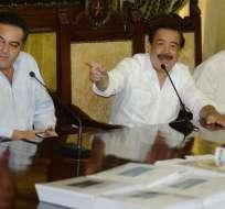 ECUADOR.- Los alcaldes de Guayaquil, Daule y Samborondón revelaron algunos detalles técnicos de construcción. Fotos: API
