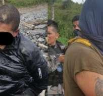 Los dos primeros detenidos son ecuatorianos y serán trasladados en las próximas horas al Centro de Rehabilitación Social de Latacunga. Fotos: José Serrano.