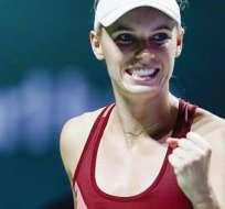 Caroline Wozniacki es una de las clasificadas a las semifinales del Masters (Foto: EFE)