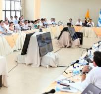 Reformas al actual Código de Trabajo que se analizaron hoy en Guayaquil. Foto: Presidencia de la República