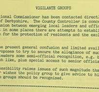 Este es el documento donde se expresa la idea de crear un grupo de vigilantes conformado por sicópatas.