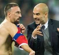 Ribery fue agredido al final del juego ante Hamburgo. Foto: EFE.