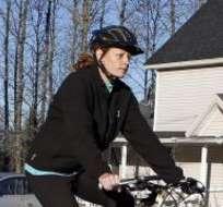 La mañana del jueves, la enfermera y su novio dieron un paseo en bicicleta.