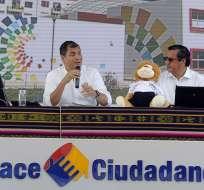 ECUADOR.- El jefe de Estado invitó también a los ciudadanos a respaldar las reformas del Código de Trabajo. Foto: Presidencia de la República