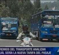 Gobierno eliminó de su presupuesto el subsidio al transporte