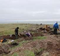 Los huesos fueron desenterrados en una excavación cerca de la rivera de Tanana, centro de Alaska.