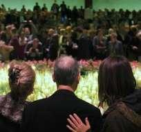 HOLANDA.- Más de 1.600 familiares de las 298 víctimas del vuelo MH17 de Malaysian Airlines derribado en Ucrania, la mayoría de ellas de nacionalidad holandesa, participaron hoy en un acto conmemorativo en el centro de convenciones. Fotos: EFE