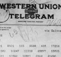 El telegrama de Zimmermann desencadenó la entrada de Estados Unidos a la Primera Guerra Mundial.