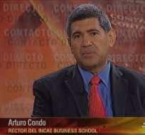 ECUADOR.- Arturo Condo durante su entrevista en Contaco Directo. Foto: Ecuavisa