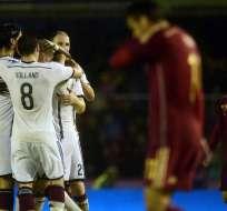 El campeón del mundo venció a España con un gol del madridista Toni Kroos. Foto: AFP