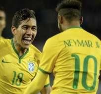 Firmino salvó a Brasil sobre la hora. Foto: EFE.