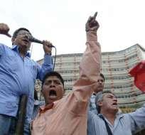ECUADOR.- Toma de la marcha de trabajadores, efectuada el 17 de septiembre anterior. Foto: API