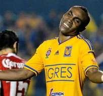 Joffre Guerrón, jugador del Tigres de México (Foto: EFE)