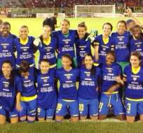 Las ecuatorianas tras la clasificación (Foto: Ecuafutbol.org)