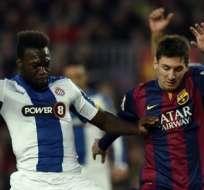 ESPAÑA.- El único del tanto del Espanyol llegó tras un robo de balón del ecuatoriano Felipe Caicedo. Fotos: AFP
